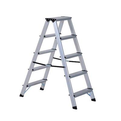 103 m Trittleiter aus Aluminium | Baumarkt > Leitern und Treppen > Trittleiter | Silver | Aluminium | MHHandel