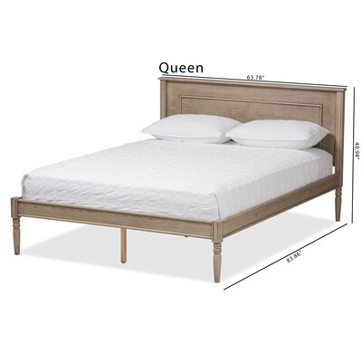Bucci Wood Platform Bed Size: Queen