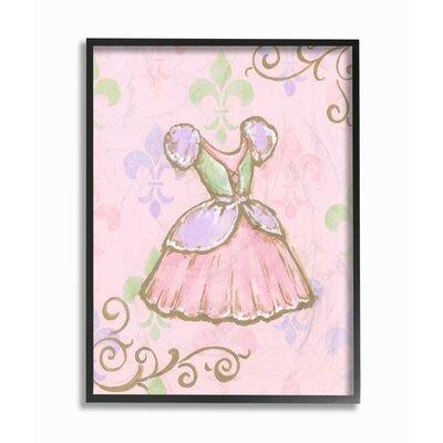 Diorio 'Princess Dress' Graphic Art Print on Wrapped Canvas 2121B3D920DA498EAEF15E2C3F4EBC1A