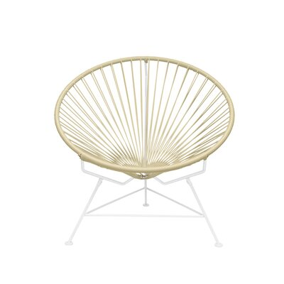 Papasan Chair Finish: White, Upholstery: Wheat