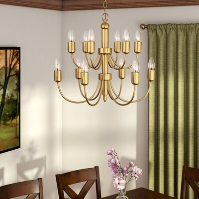 Lagunas 1-Light Candle Chandelier Finish: Antique Brass