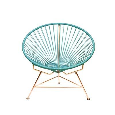 Papasan Chair Finish: Copper, Upholstery: Cyan