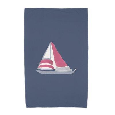 London Beach Towel Color: Navy Blue