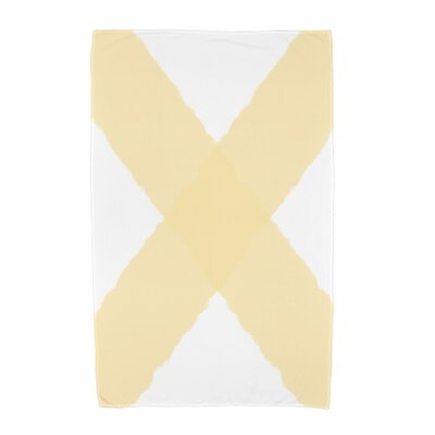 London X Marks Beach Towel Color: Yellow