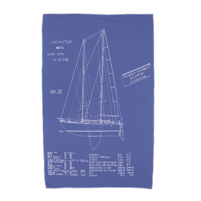 London Sail Plan Print Beach Towel