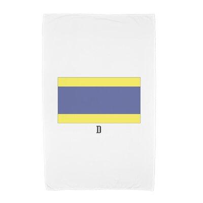 D Letter Print Beach Towel