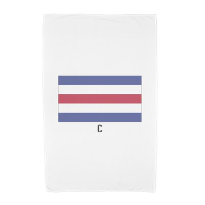 C Letter Simple Outlined Print Beach Towel