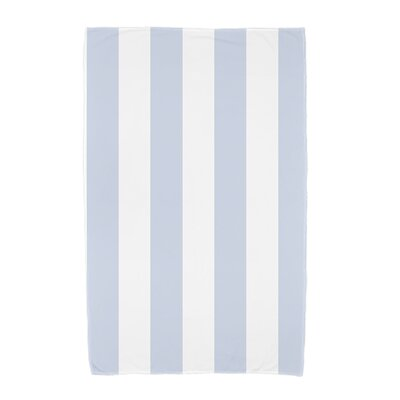 London Rugby Stripe Print Beach Towel Color: Blue