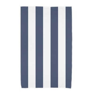 London Rugby Stripe Print Beach Towel Color: Navy Blue