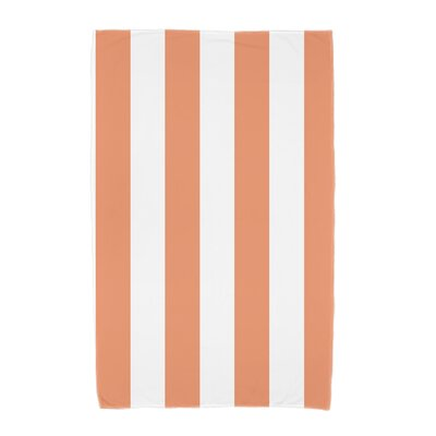 London Rugby Stripe Print Beach Towel Color: Orange