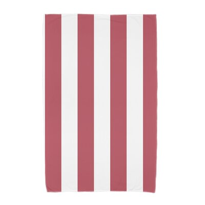 London Rugby Stripe Print Beach Towel Color: Red