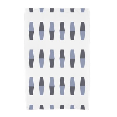 London Bowling Pins Geometric Print Beach Towel Color: Navy Blue