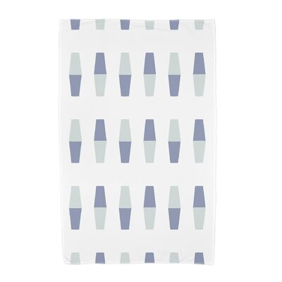 London Bowling Pins Geometric Print Beach Towel Color: Blue