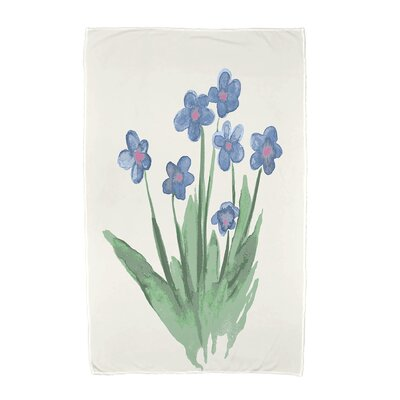 Monroe Pretty Little Flower Beach Towel Color: Light Blue