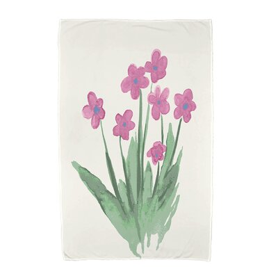 Monroe Pretty Little Flower Beach Towel Color: Pink