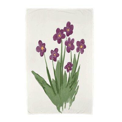 Monroe Pretty Little Flower Beach Towel Color: Purple