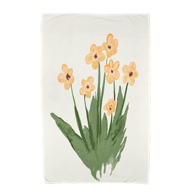 Monroe Pretty Little Flower Beach Towel Color: Yellow
