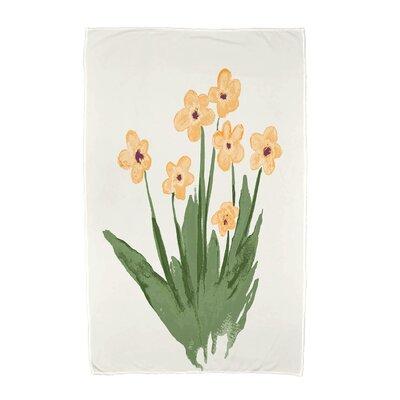 Monroe Pretty Little Flower Beach Towel Color: Yellow