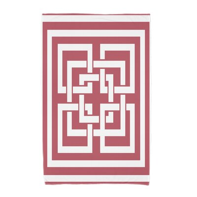 London Beach Towel Color: Red