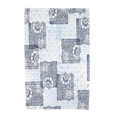 Monroe Patches Beach Towel Color: Navy Blue
