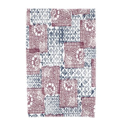 Monroe Patches Beach Towel Color: Maroon