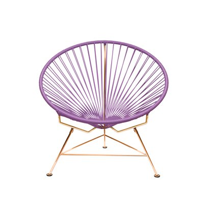 Papasan Chair Finish: Copper, Upholstery: Violet