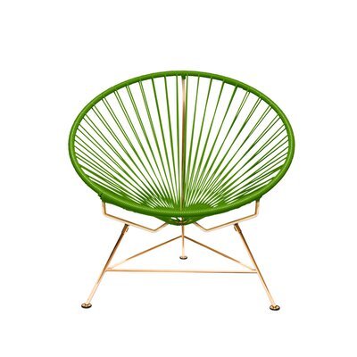 Papasan Chair Finish: Copper, Upholstery: Green