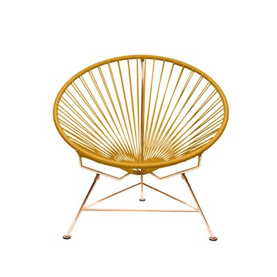 Papasan Chair Finish: Copper, Upholstery: Yellow