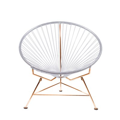 Papasan Chair Finish: Copper, Upholstery: Light White