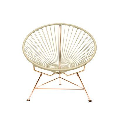 Papasan Chair Finish: Copper, Upholstery: Wheat