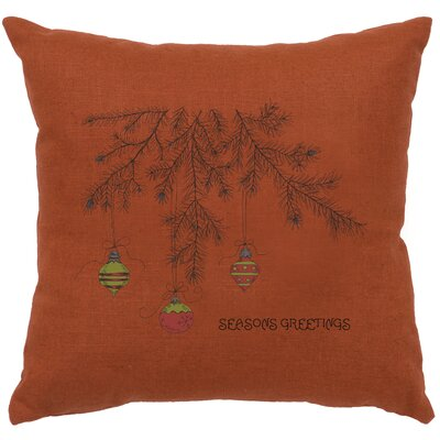 Alessi Bulbs Throw Pillow Color: Paprika
