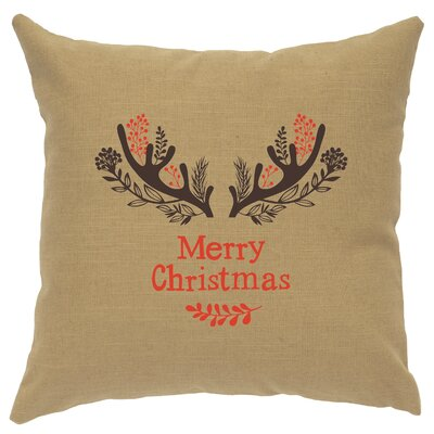 Alessi Antlers Throw Pillow Color: Straw