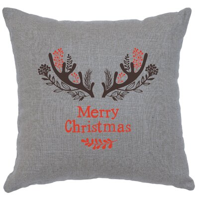 Alessi Antlers Throw Pillow Color: Gray
