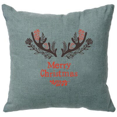 Alessi Antlers Throw Pillow Color: Ocean