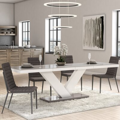 Thurmont Top Dining Table Base Color / Top Color: White/Gray