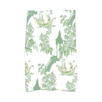 Spina Hand Towel Color: Green