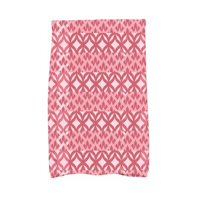 London Hand Towel Color: Red