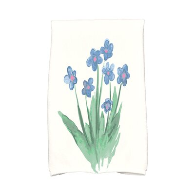 Monroe Pretty Little Flower Hand Towel Color: Light Blue
