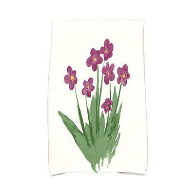 Monroe Pretty Little Flower Hand Towel Color: Purple