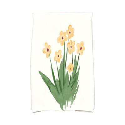 Monroe Pretty Little Flower Hand Towel Color: Yellow