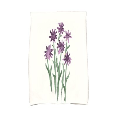 Monroe Daffodils Hand Towel Color: Purple