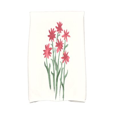 Monroe Daffodils Hand Towel Color: Rust