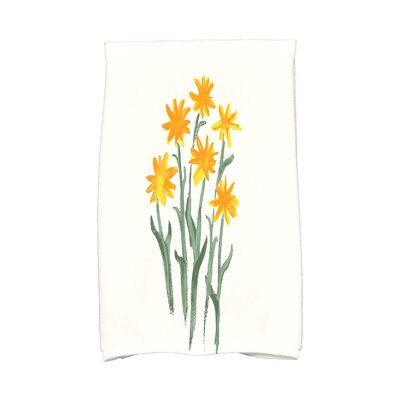 Monroe Daffodils Hand Towel Color: Yellow