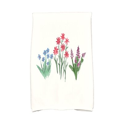 Monroe Flower Trio Hand Towel Color: Light Blue