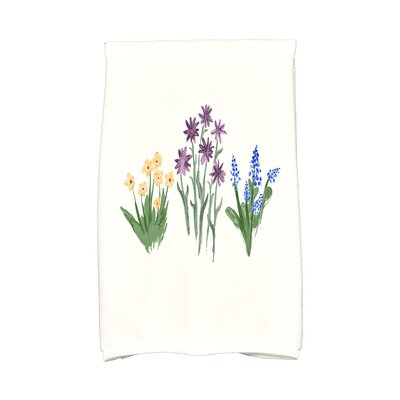Monroe Flower Trio Hand Towel Color: Purple