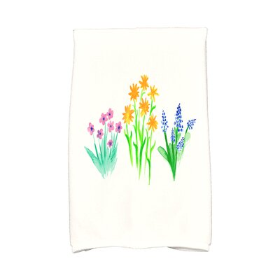 Monroe Flower Trio Hand Towel Color: Yellow