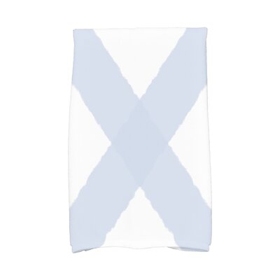 London X Marks Hand Towel Color: Blue