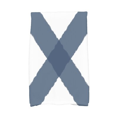London X Marks Hand Towel Color: Navy Blue