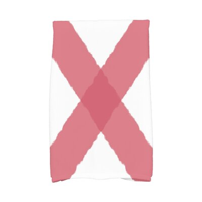 London X Marks Hand Towel Color: Red