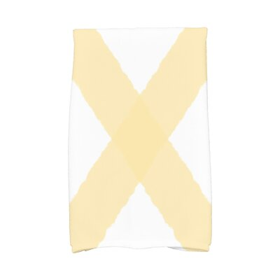 London X Marks Hand Towel Color: Yellow